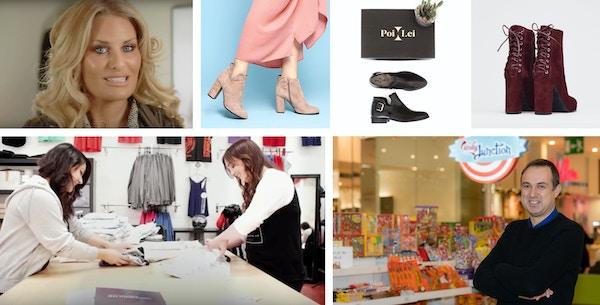 Retailer collage