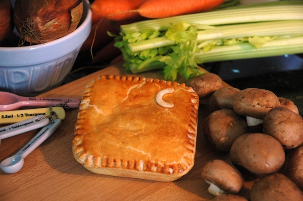 Chicken and mushrrom pie by eat square