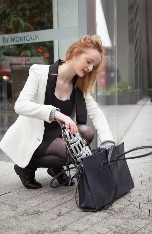 Girl and bag with morpher