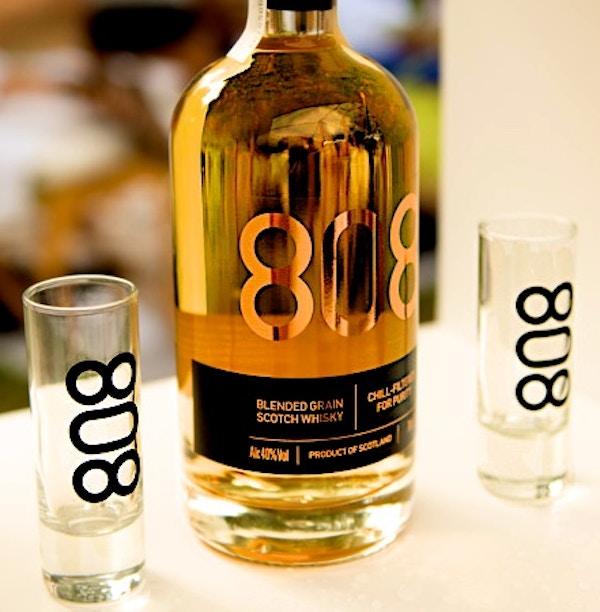 Bottle and shot glasses