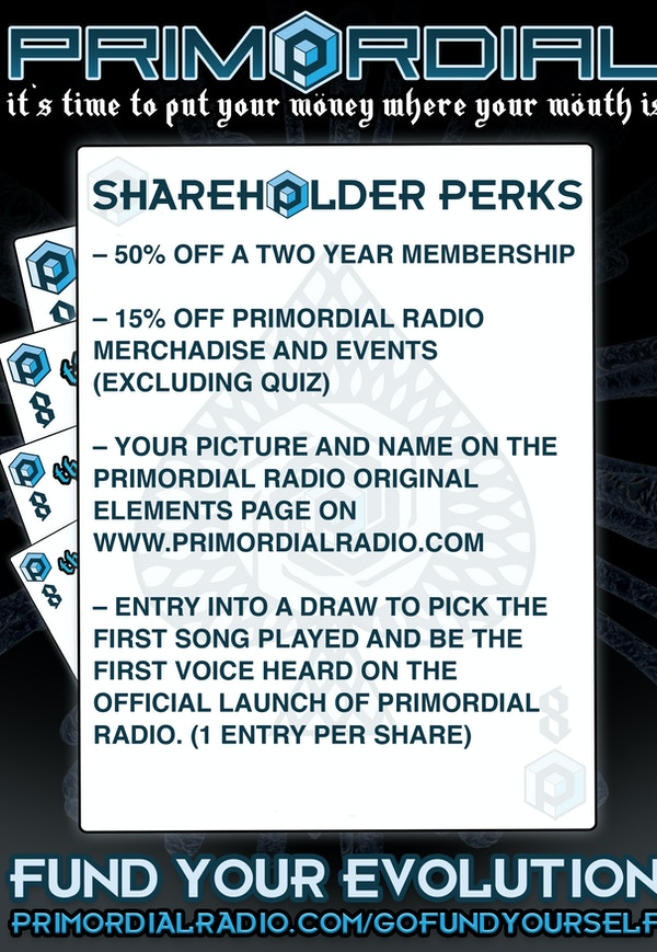 Primordial 8th of may  shareholder perks 3