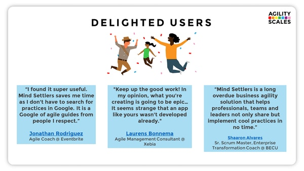 Delighted users
