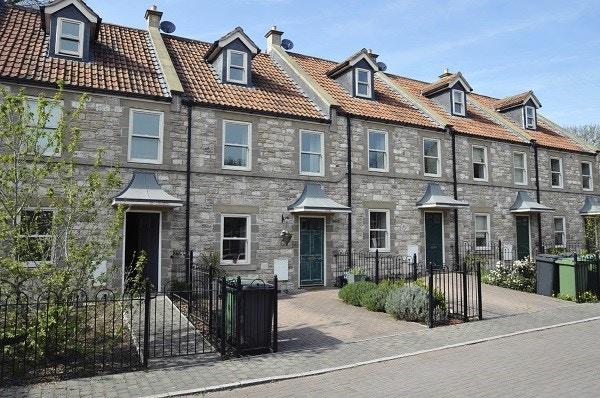 New terraced housing