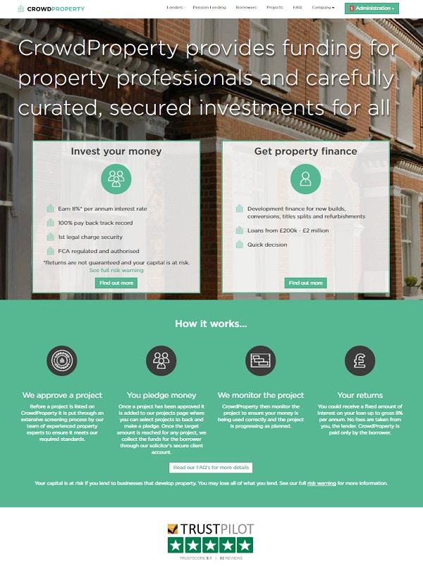 Crowdproperty webpage