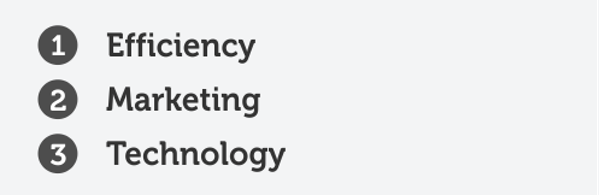 Efficiency  marketing  technology