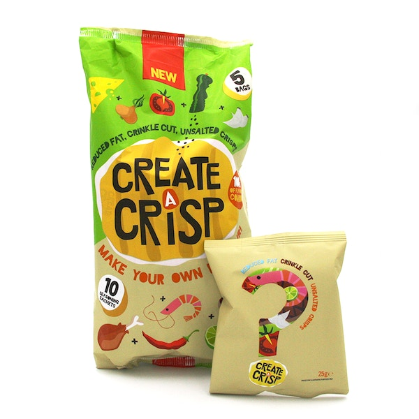 Create a crisp multipack and pack  white