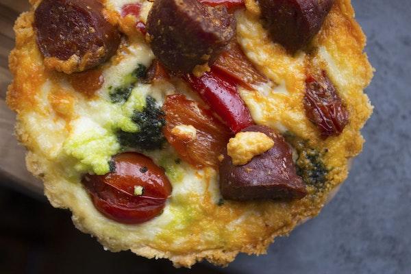 Chorizo tart