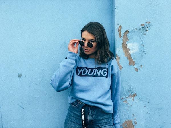 Blue young jumper  1