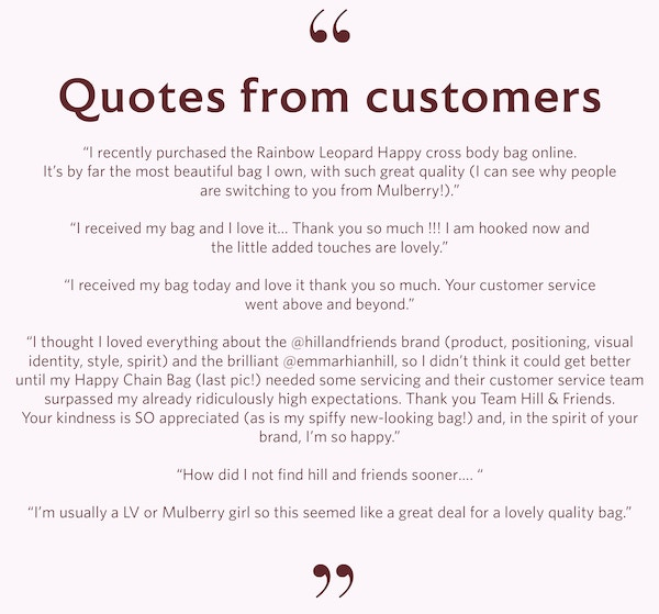 Hill and friends quotes customers  1
