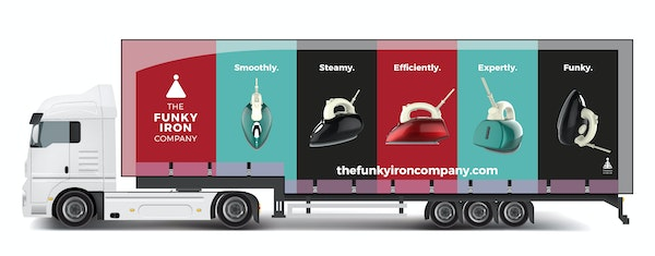 The funky iron company branded truck  1