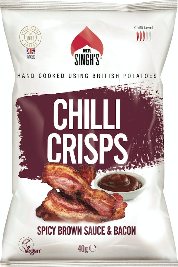 Mr singhs spicy bacon and brown sauce