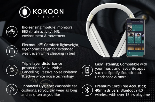 Headphone features large text  1