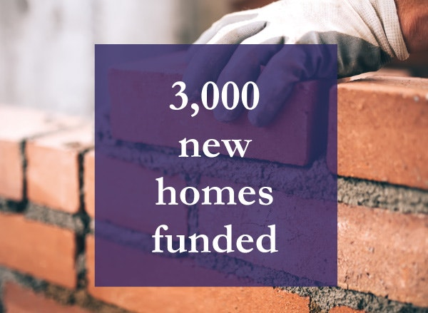3000 new homes