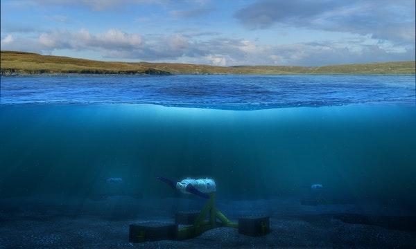 Turbine underwater landscape