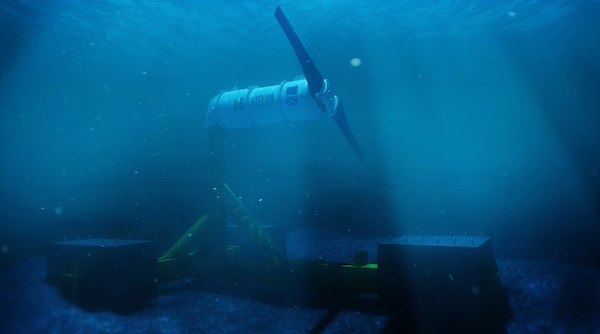 Single subsea turbine