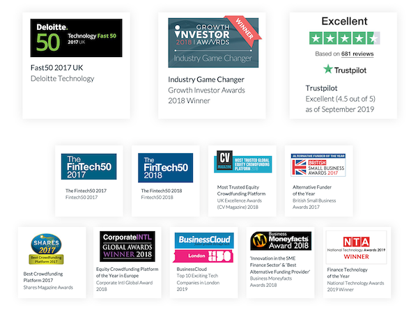 5. awards  seedrs campaign