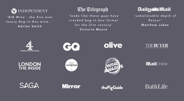 Press quotes and logos