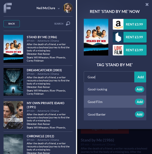 Filmies results page combo