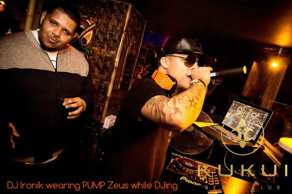 Dj ironik wearing pump zeus 2