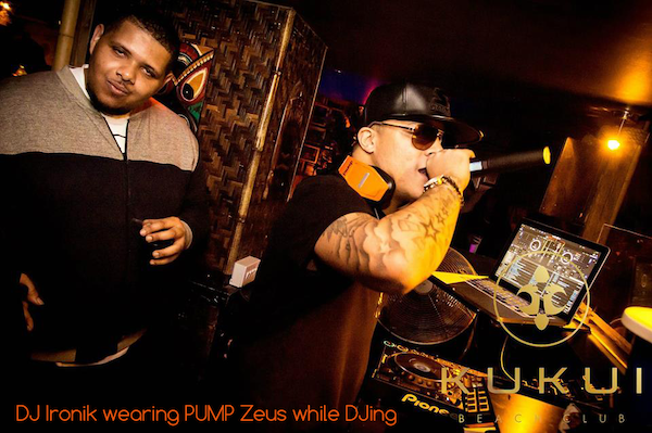 Dj ironik wearing pump zeus 2