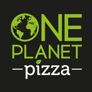 One planet pizza logo black