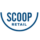 Scoop logo blue png