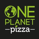 One planet pizza logo black