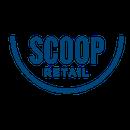 Scoop logo blue png