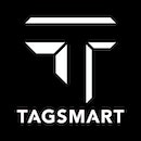 Tagsmart logo black rgb bigger border inverted