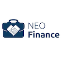 Neo finance blue square