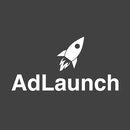 Adlaunch logo   square white on grey